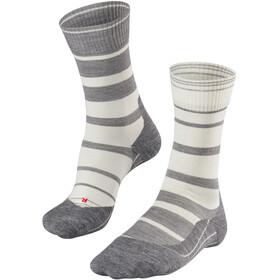 Falke TK5 Stripe Miehet sukat , harmaa/valkoinen